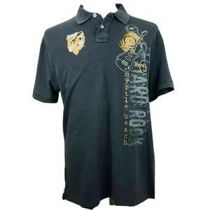 Hard Rock Cafe Myrtle Beach Polo Shirt Black L